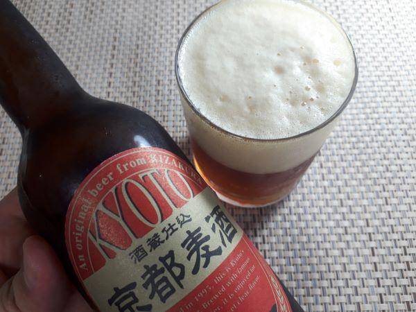 京都麦酒 アルトを注いだところ