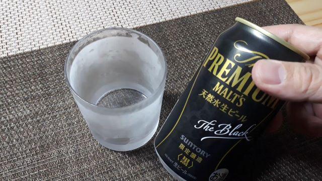 サントリー「ザ・プレミアム・モルツ<黒>2021」を飲む(オリジナル写真)
