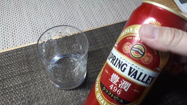 キリン「SPRING VALLEY 豊潤<496>」を飲む(オリジナル写真)